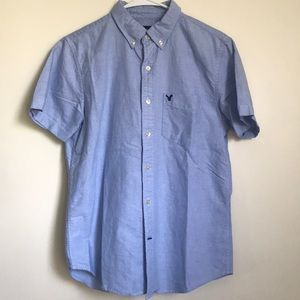 American Eagle button up short sleeve
